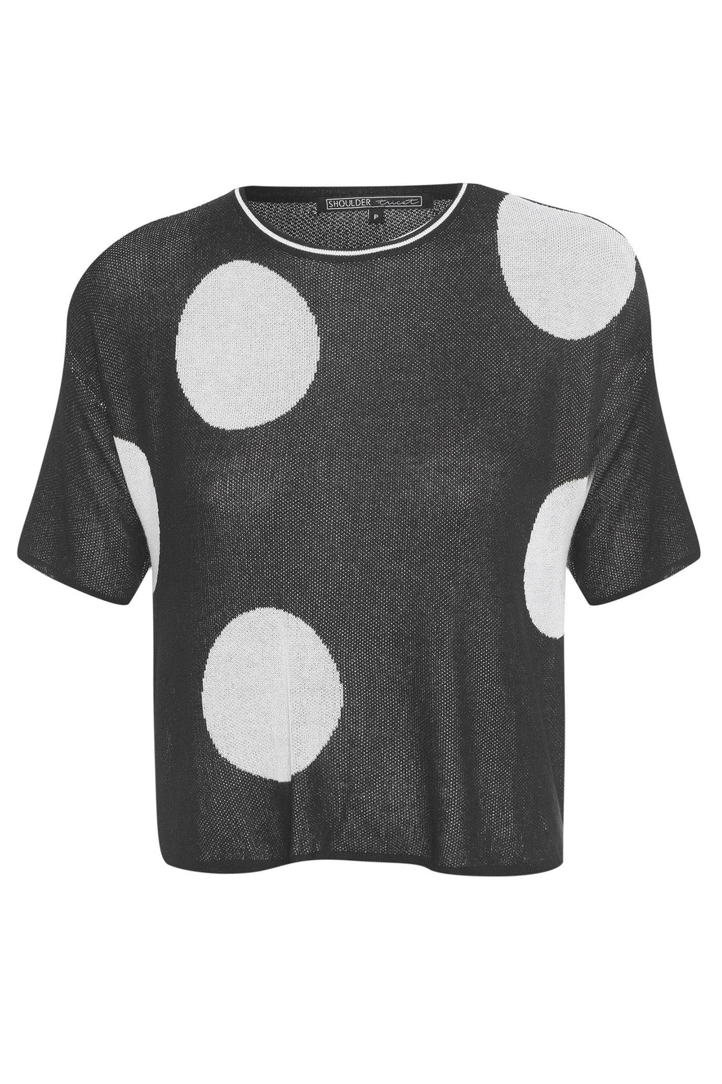 T-Shirt Tricot Bolas - Preto