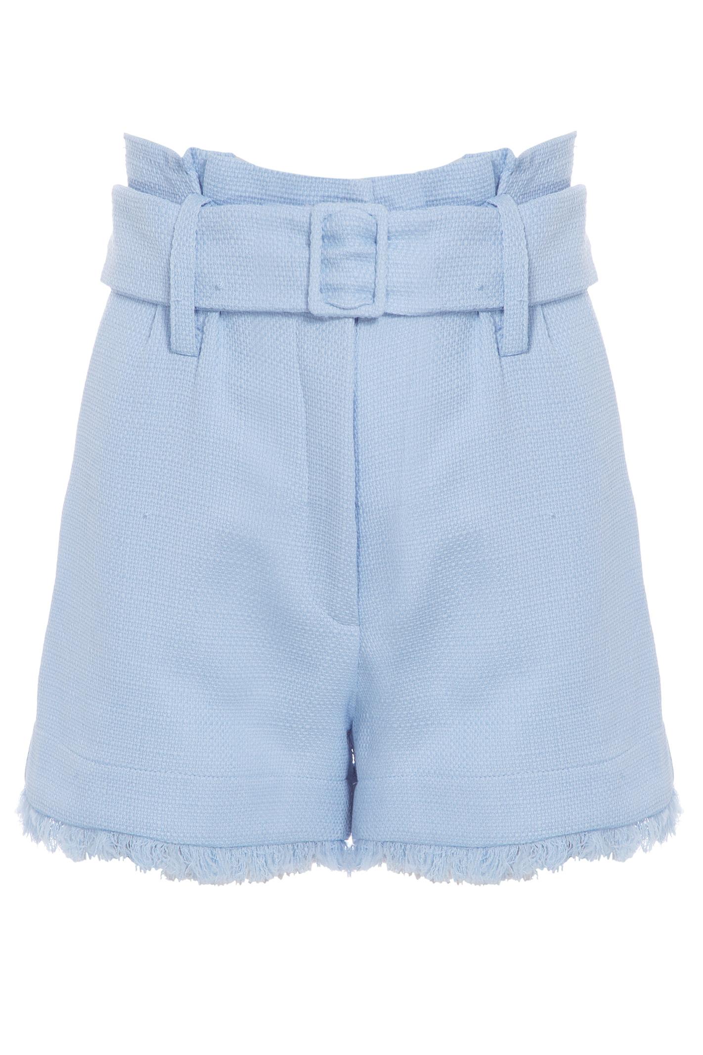Shorts Desfiado Fivela Tweed