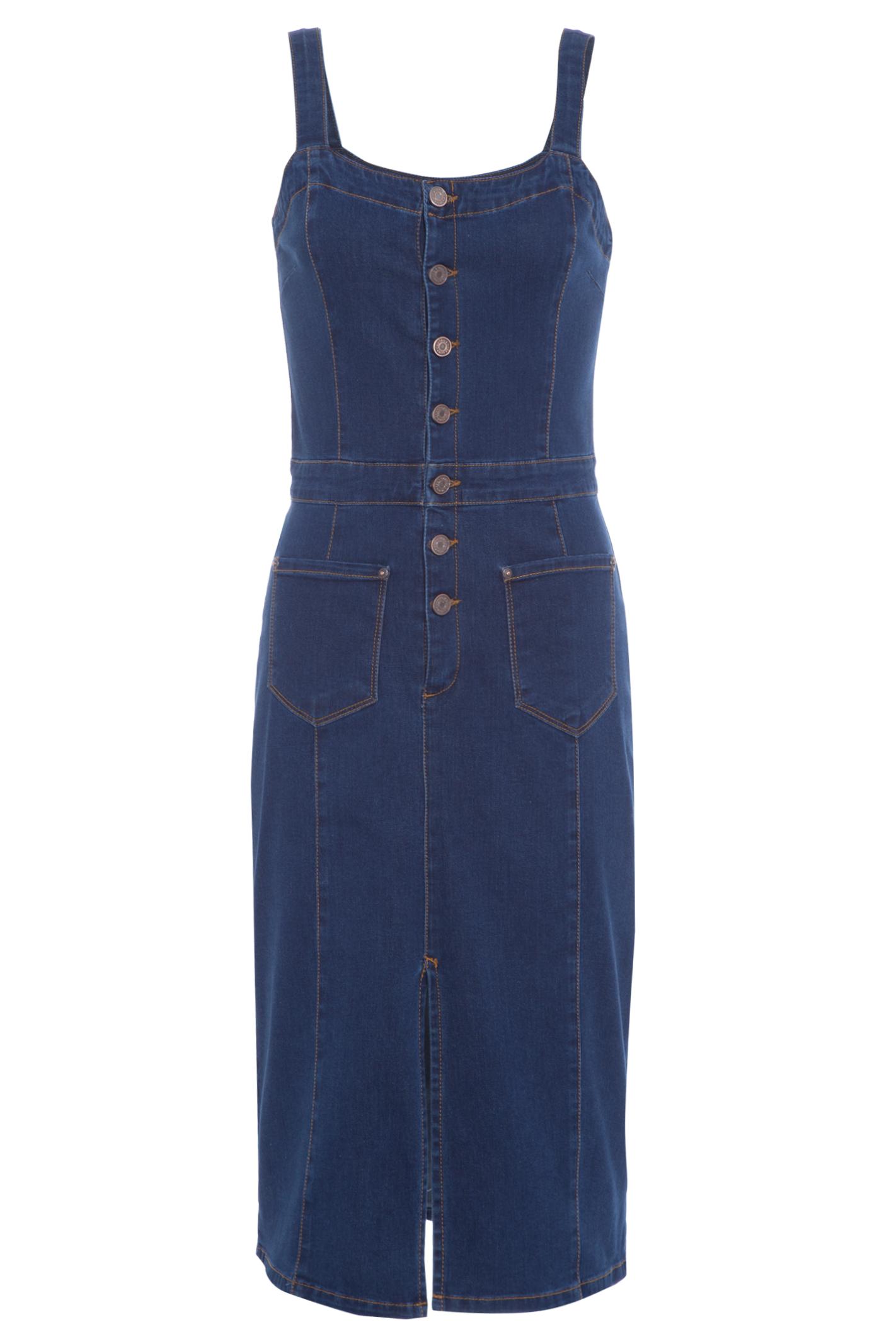 Vestido Jeans Jardineira Comfort L71