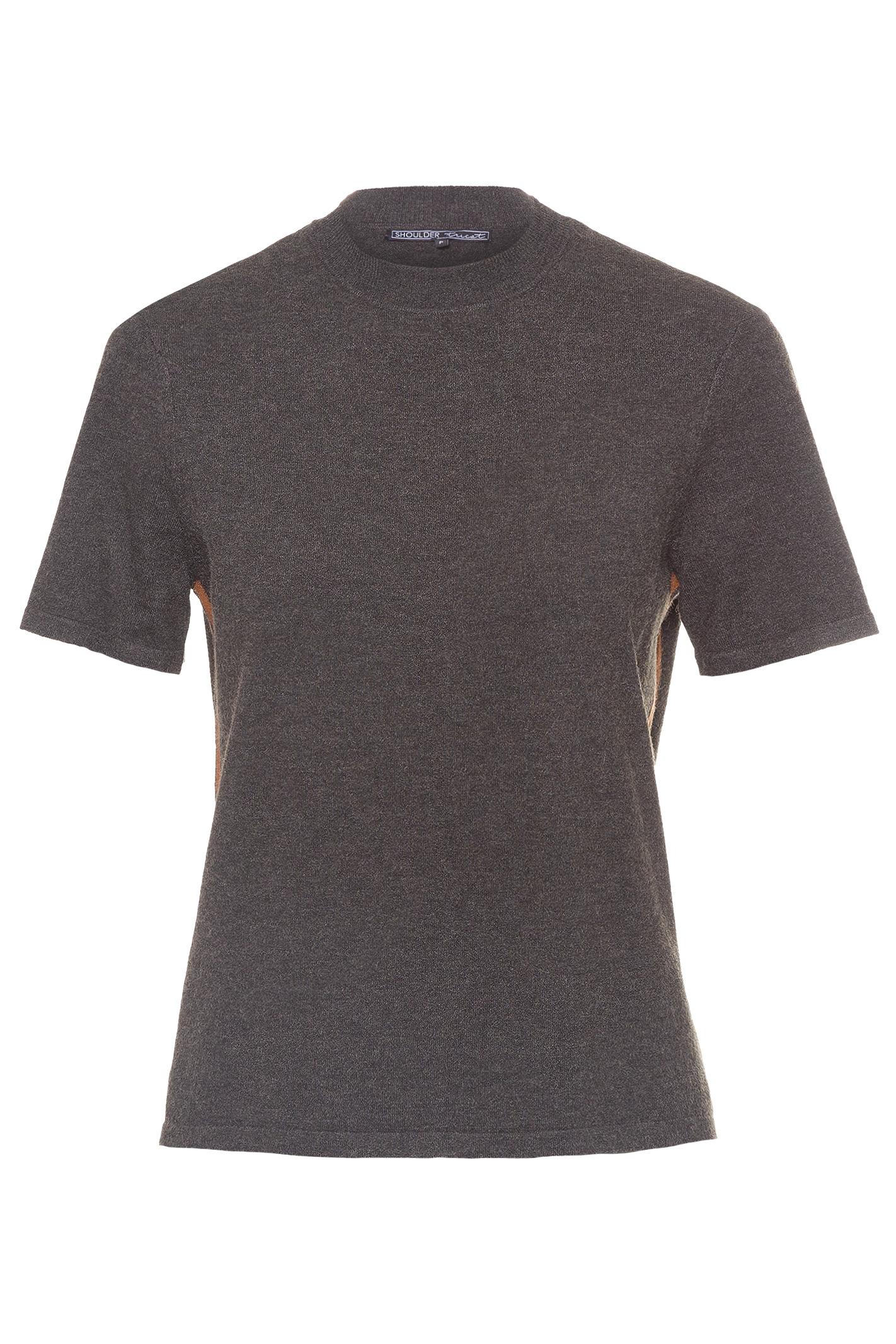 T-Shirt Tricot Faixa Lateral Com Lurex