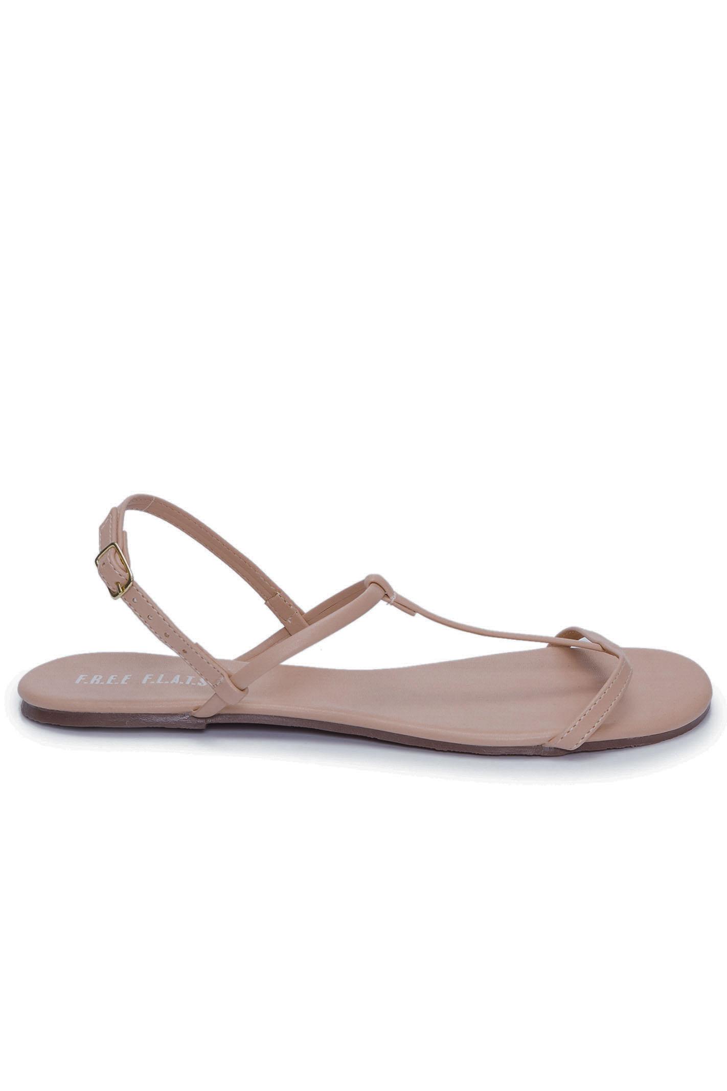 Sandália Rasteira T-Strap Simple Brown