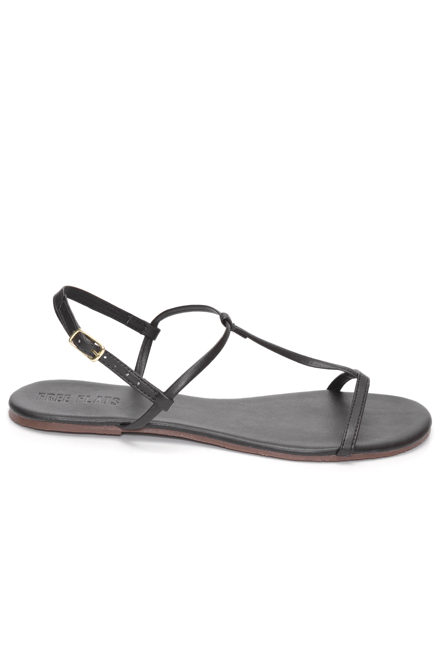 Sandália Rasteira T-Strap Simple Preto