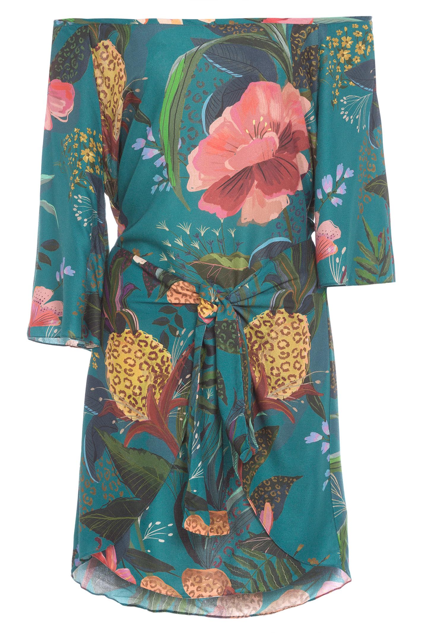 Vestido Curto Flor De Onça
