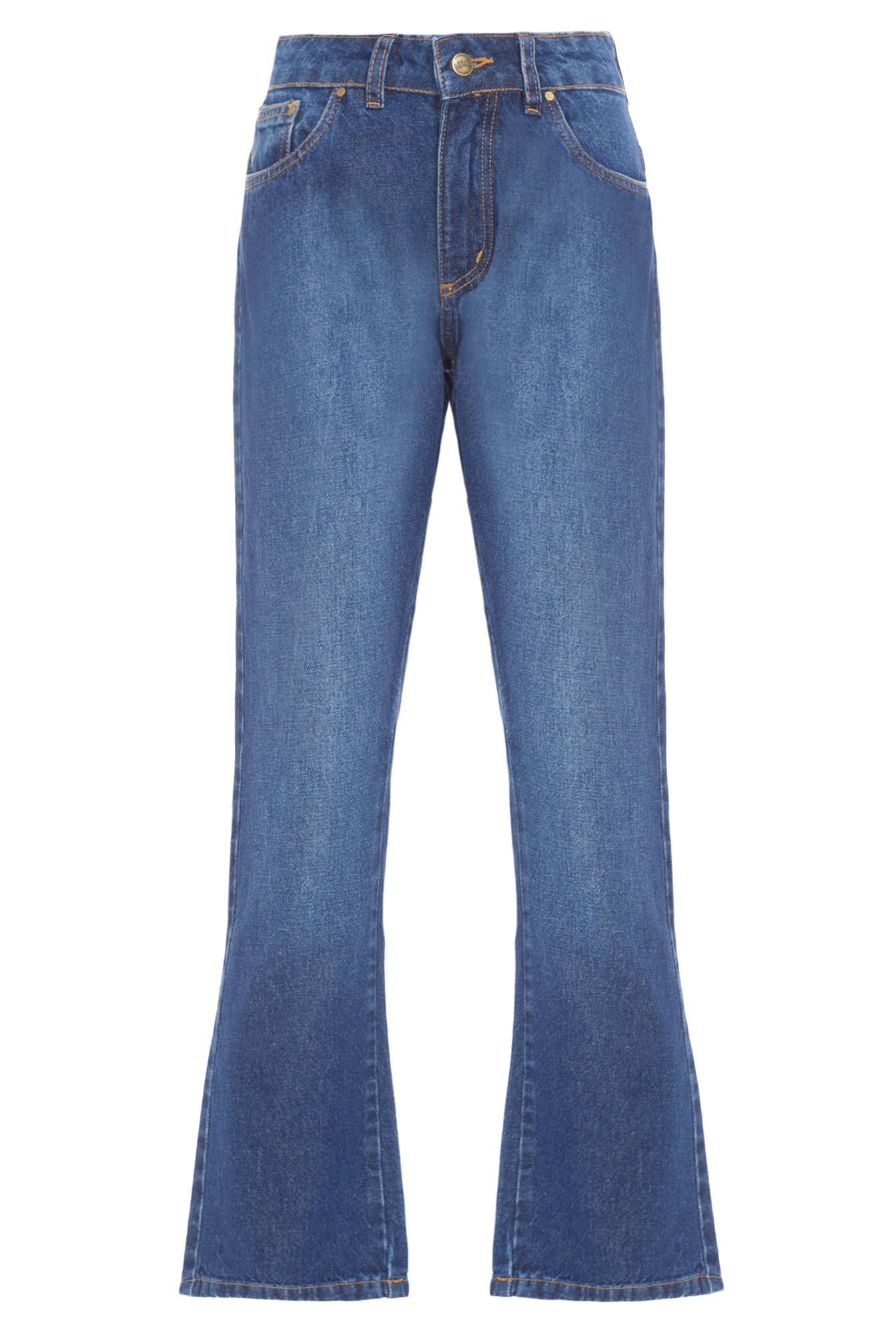 Calça Jeans Fem Retro Wide Leg