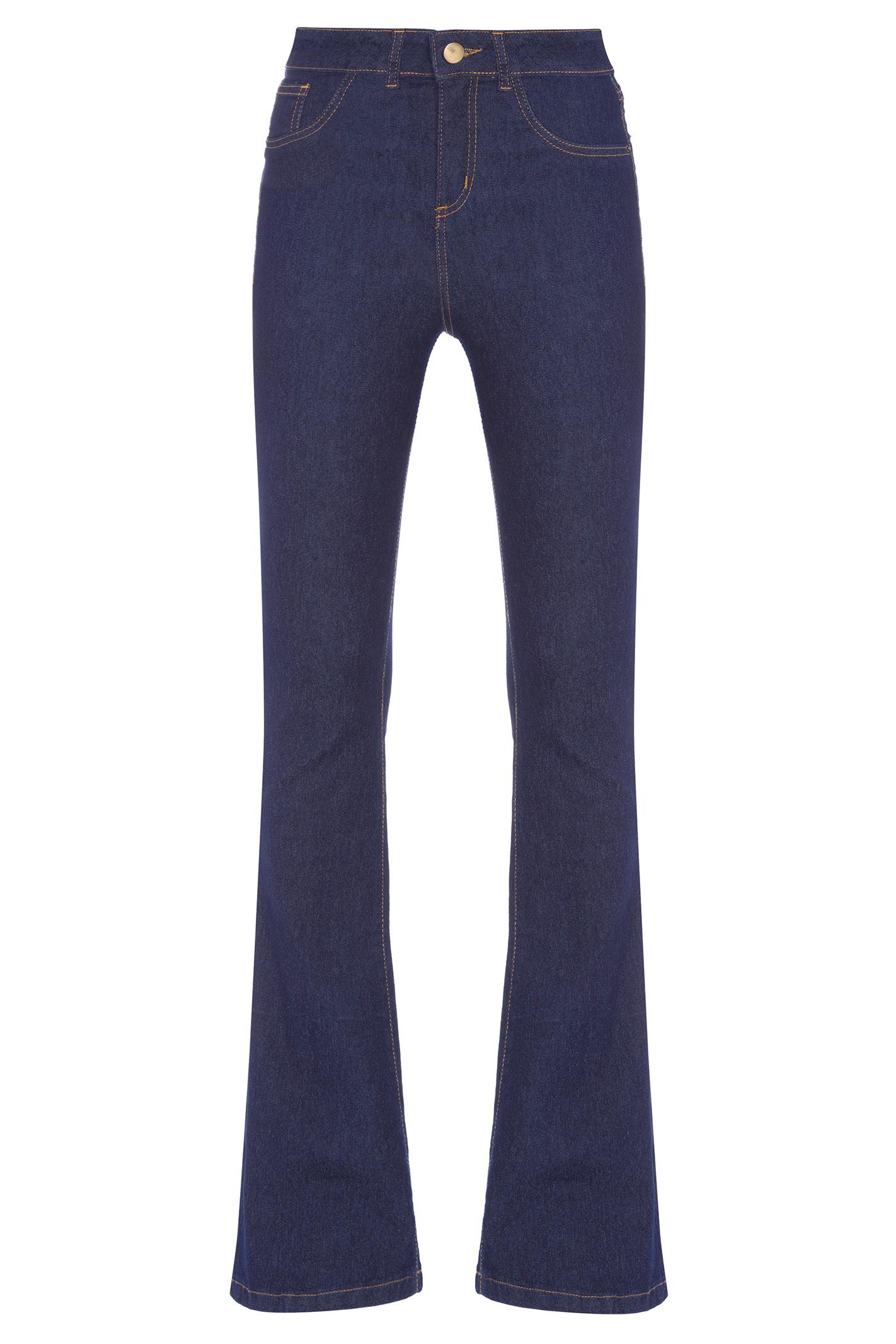 Calça Flare Jeans Elastano