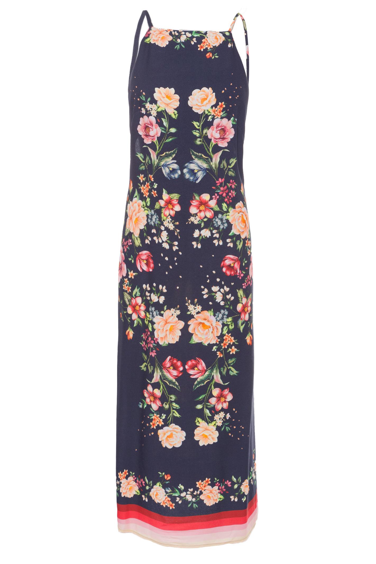 Vestido Coluna Magia De Flor