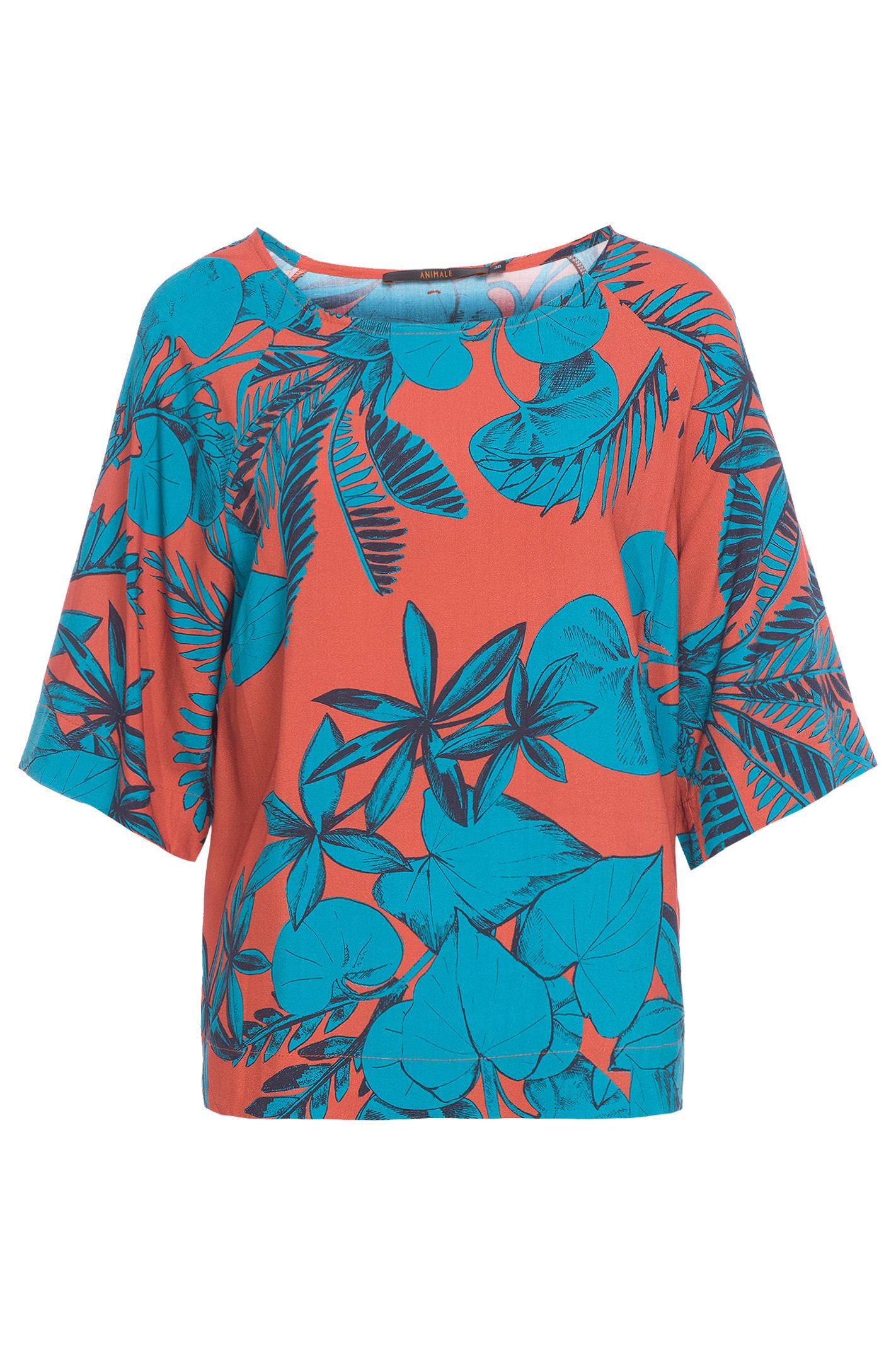 T-Shirt Básica Coco Terra E Azul