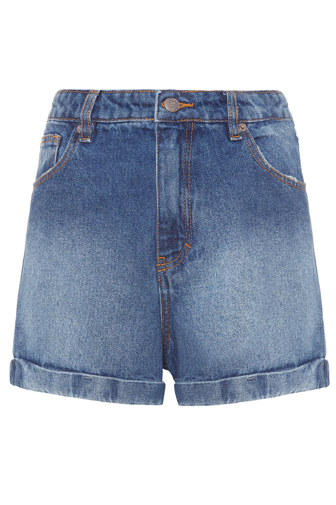 Short Jeans Alto Barra Dobrada