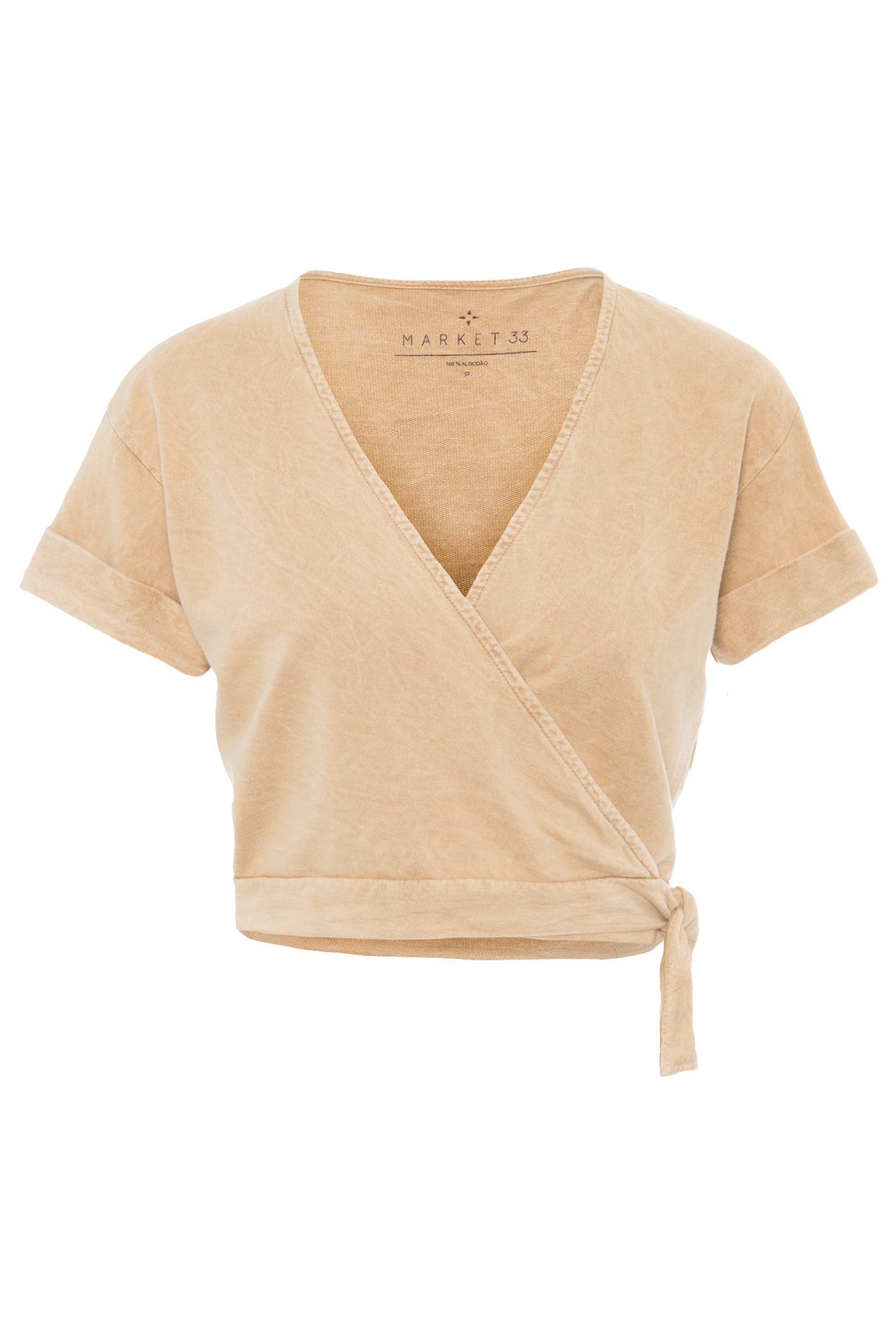 Blusa Cropped Moletom Marmorizado