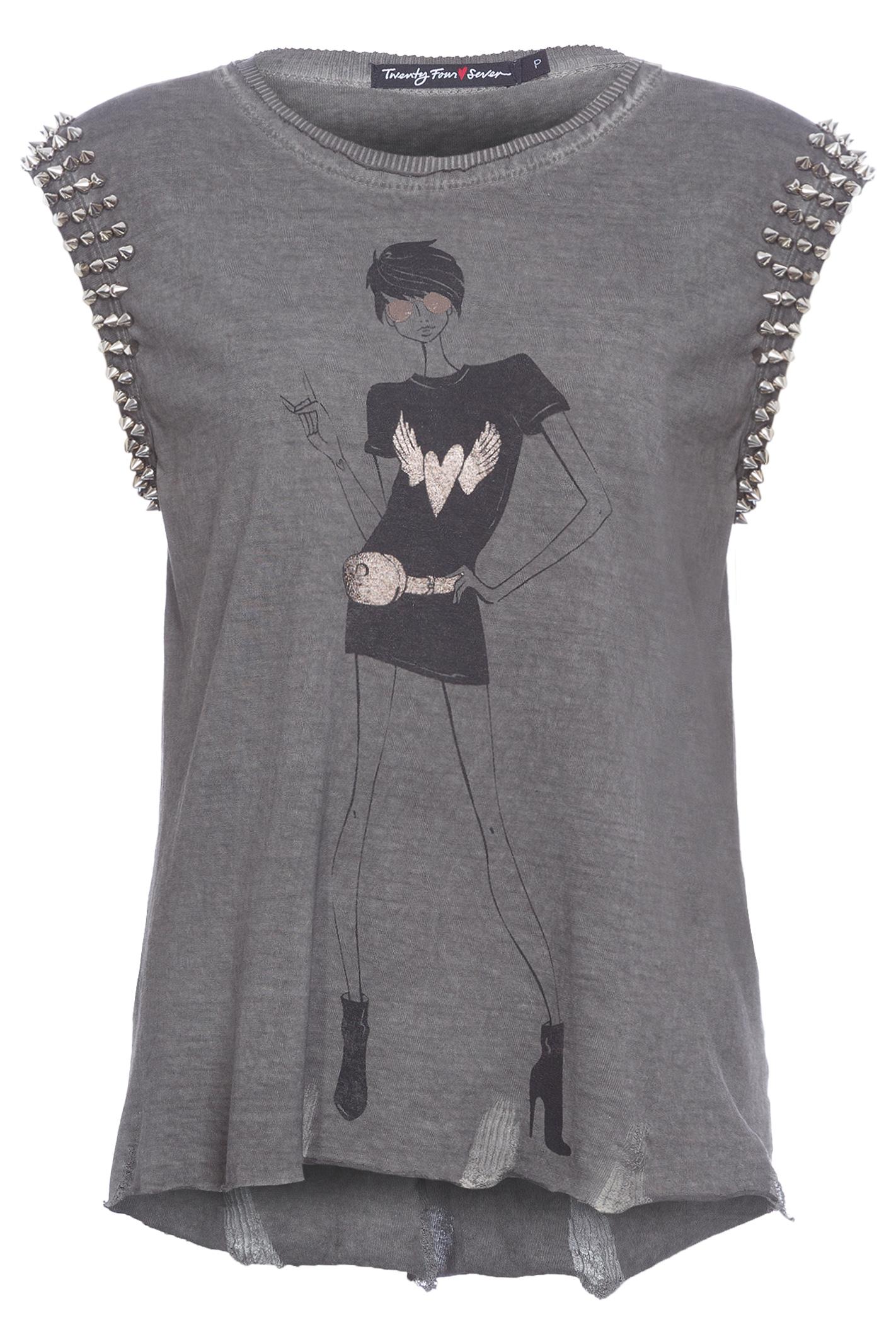 T-Shirt Spike Girl Rock