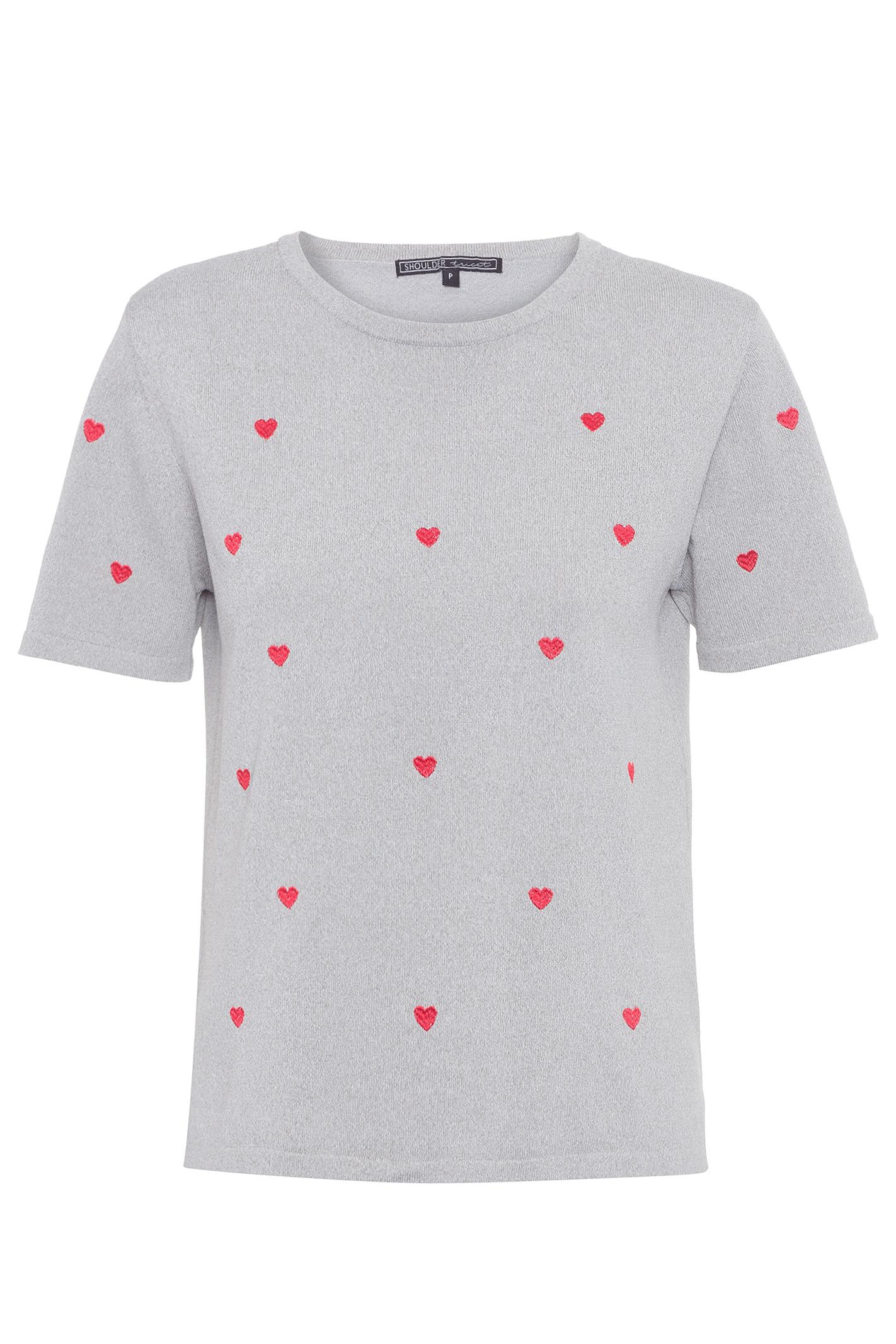 T-Shirt Tricot Mescla Bordada
