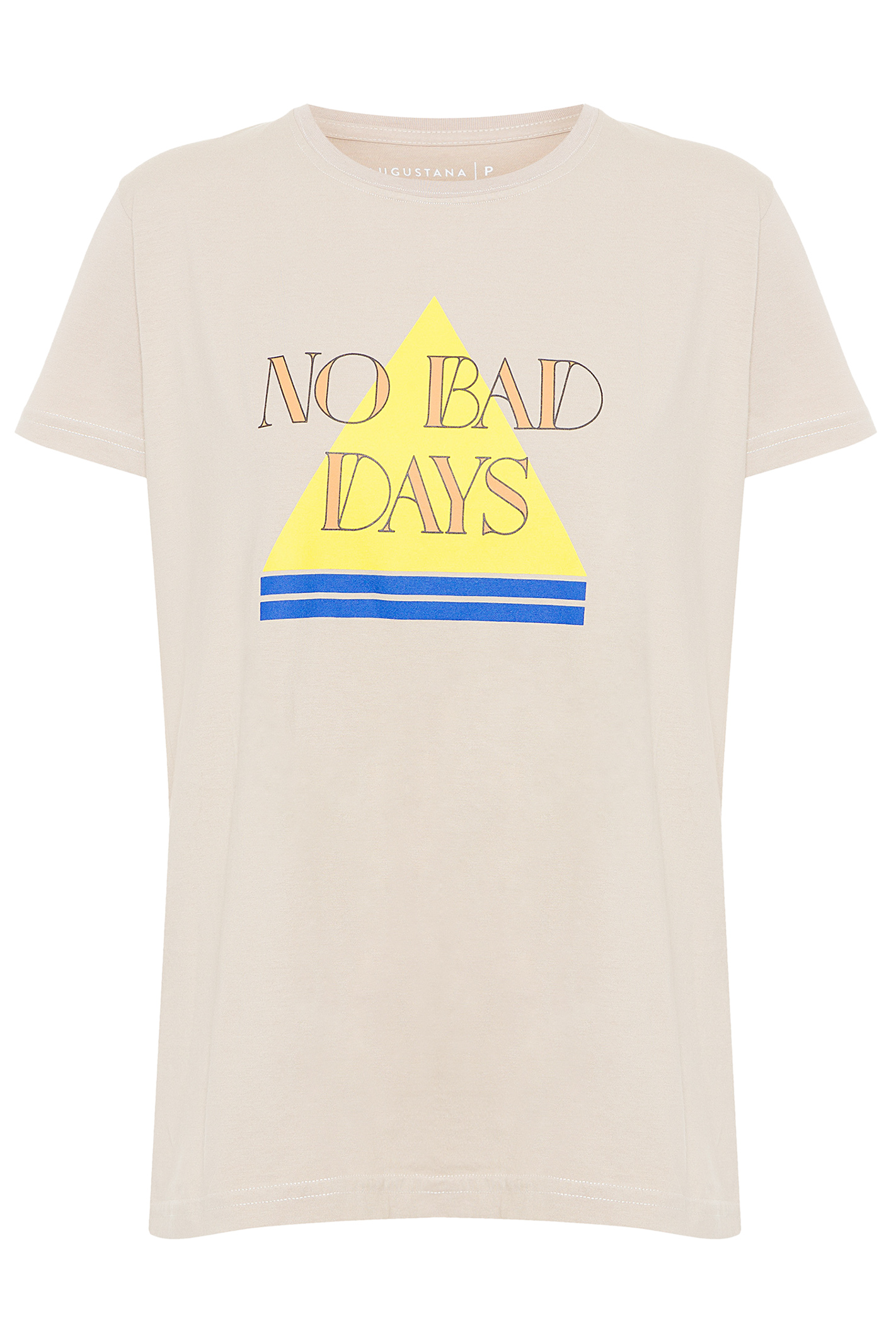 T-Shirt No Bad Vibes - Bege