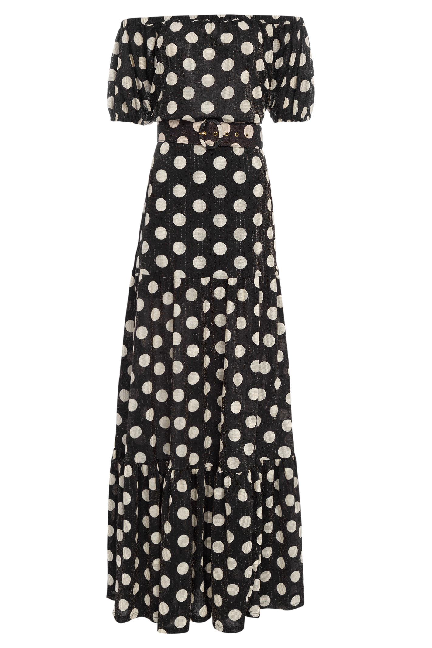 Vestido Longo Polka Dots