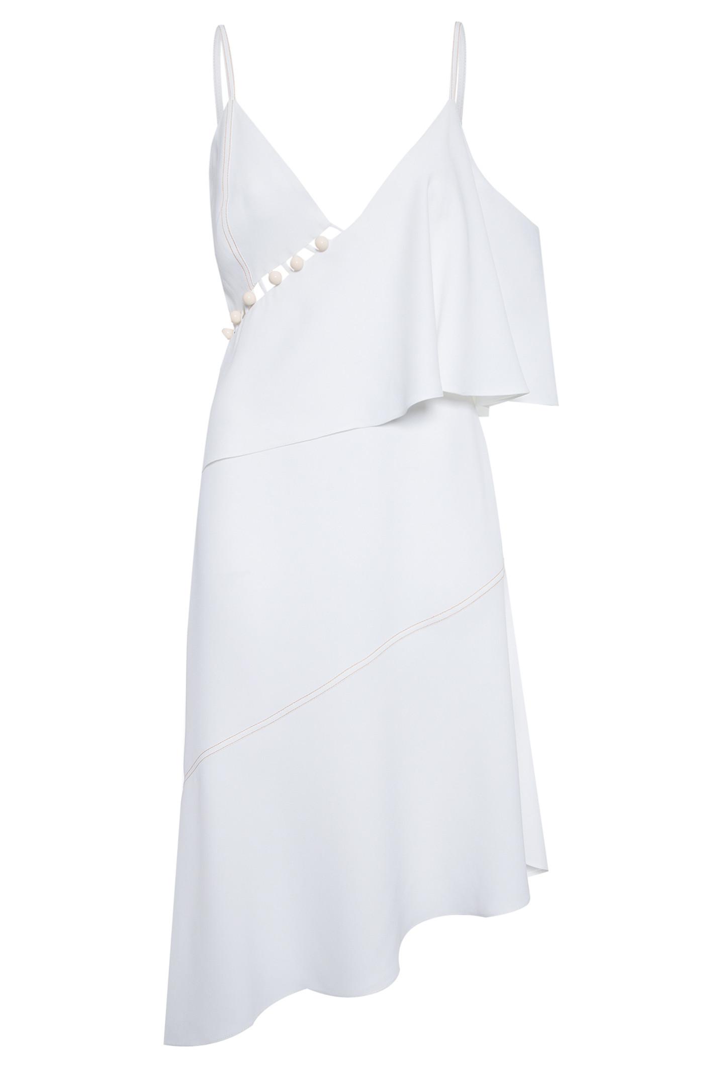 Vestido Patou Assimétrico - Branco