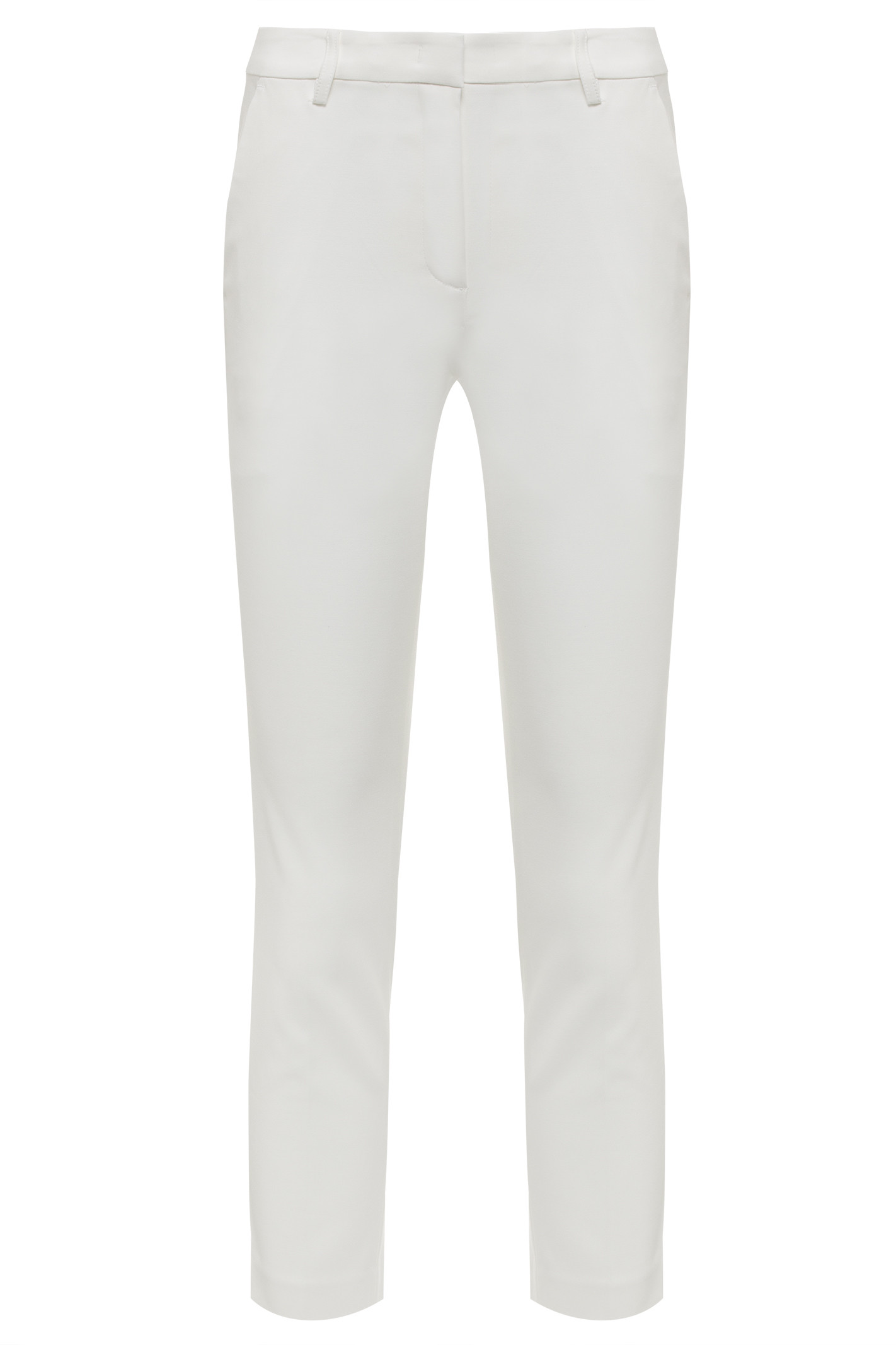 Calça De Tecido Plano - Off White