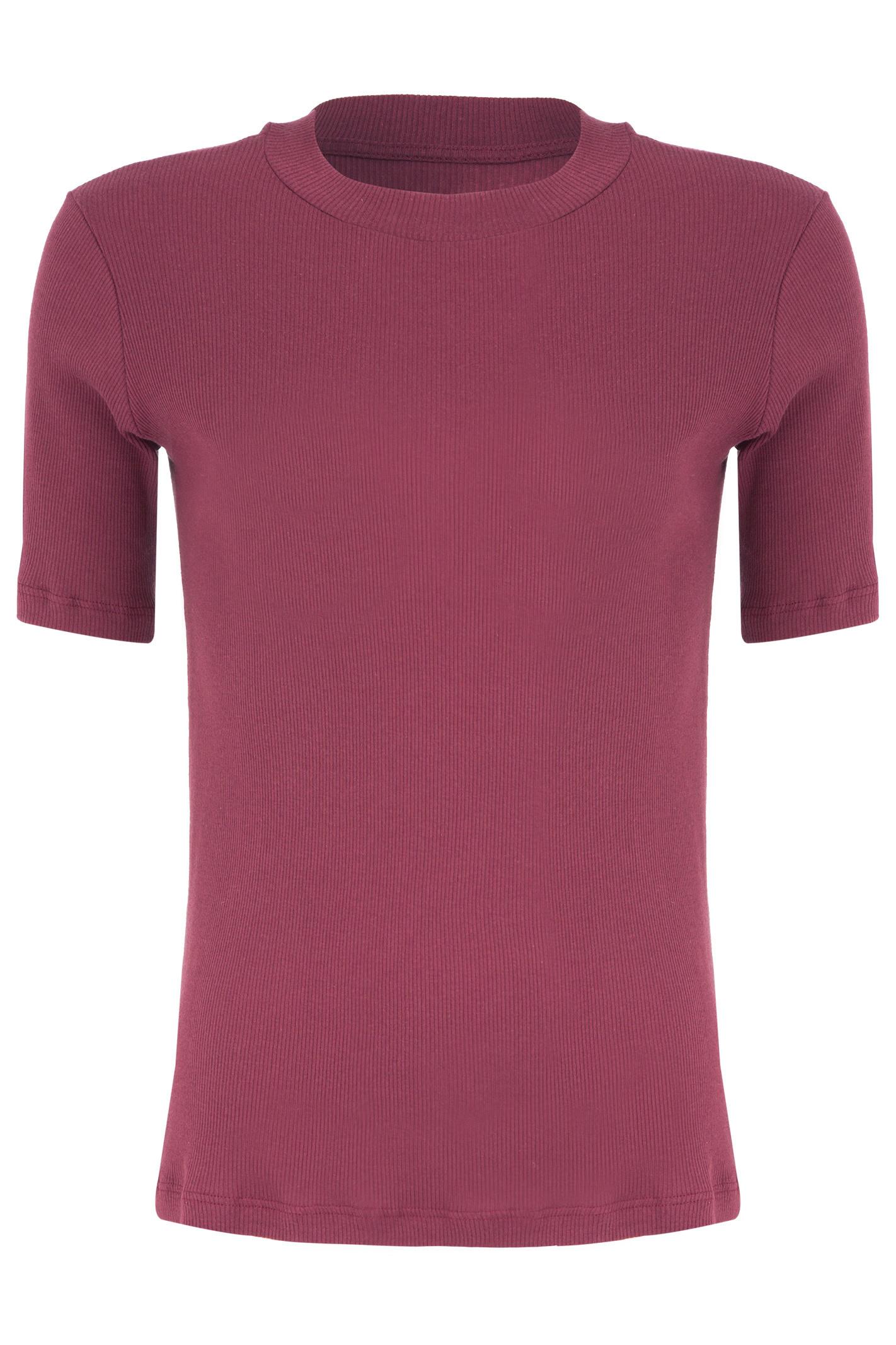 Tshirt Canelado - Vermelho