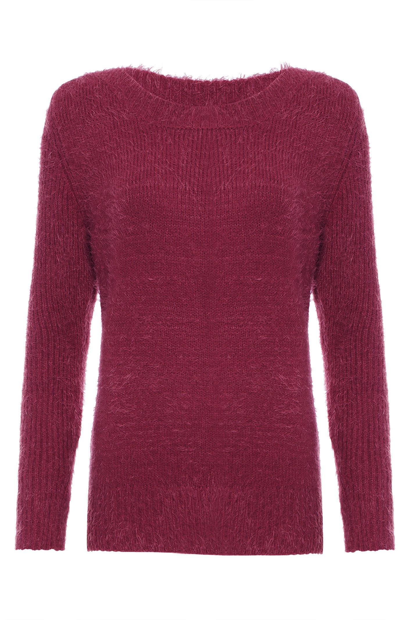 Suéter Pelo Curto - Vinho