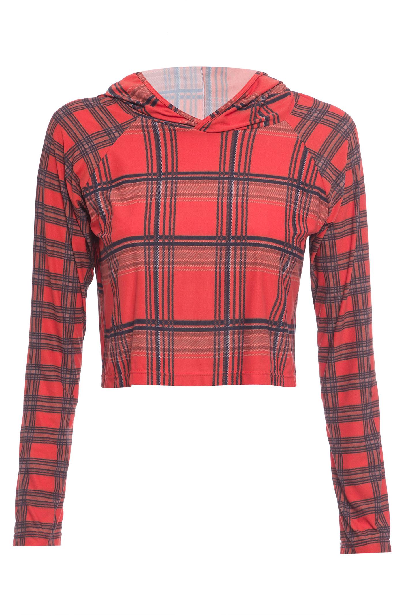 Camiseta Manga Longa Com Capuz - Laranja