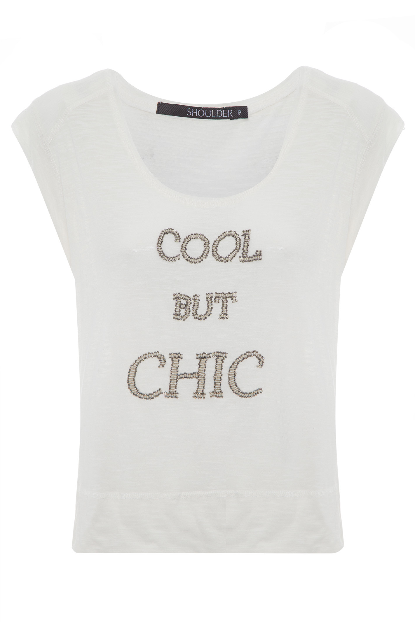 T-Shirt Cool But Chic - Off White