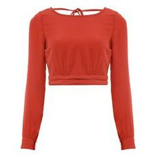 Blusa Cropped Decote Anne - Laranja