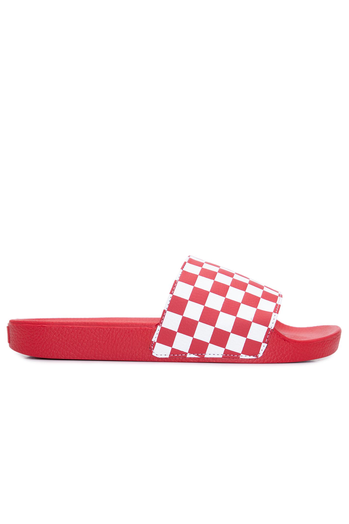 Chinelo Wm Slide-On (Checkerboard)