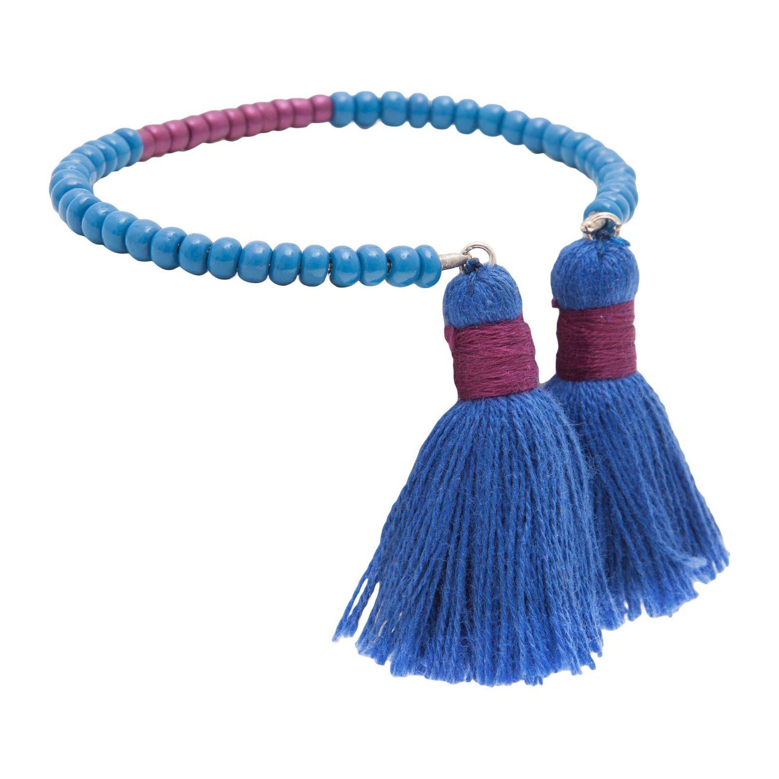 Bracelete Tassel Dime - Azul