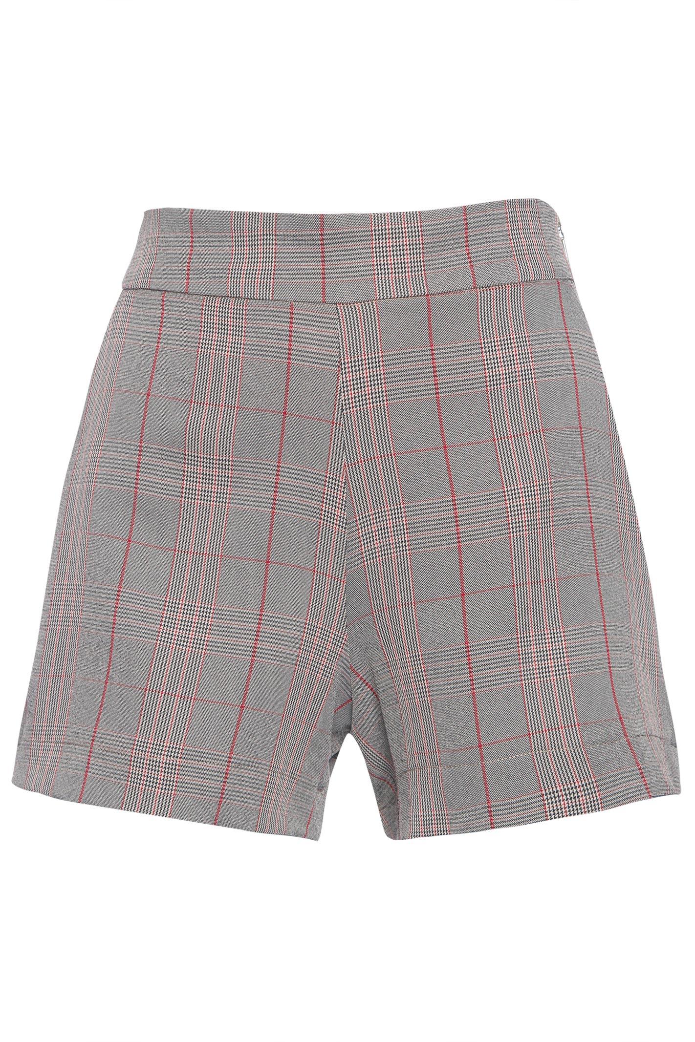 Shorts Curto Alfaiataria - Cinza