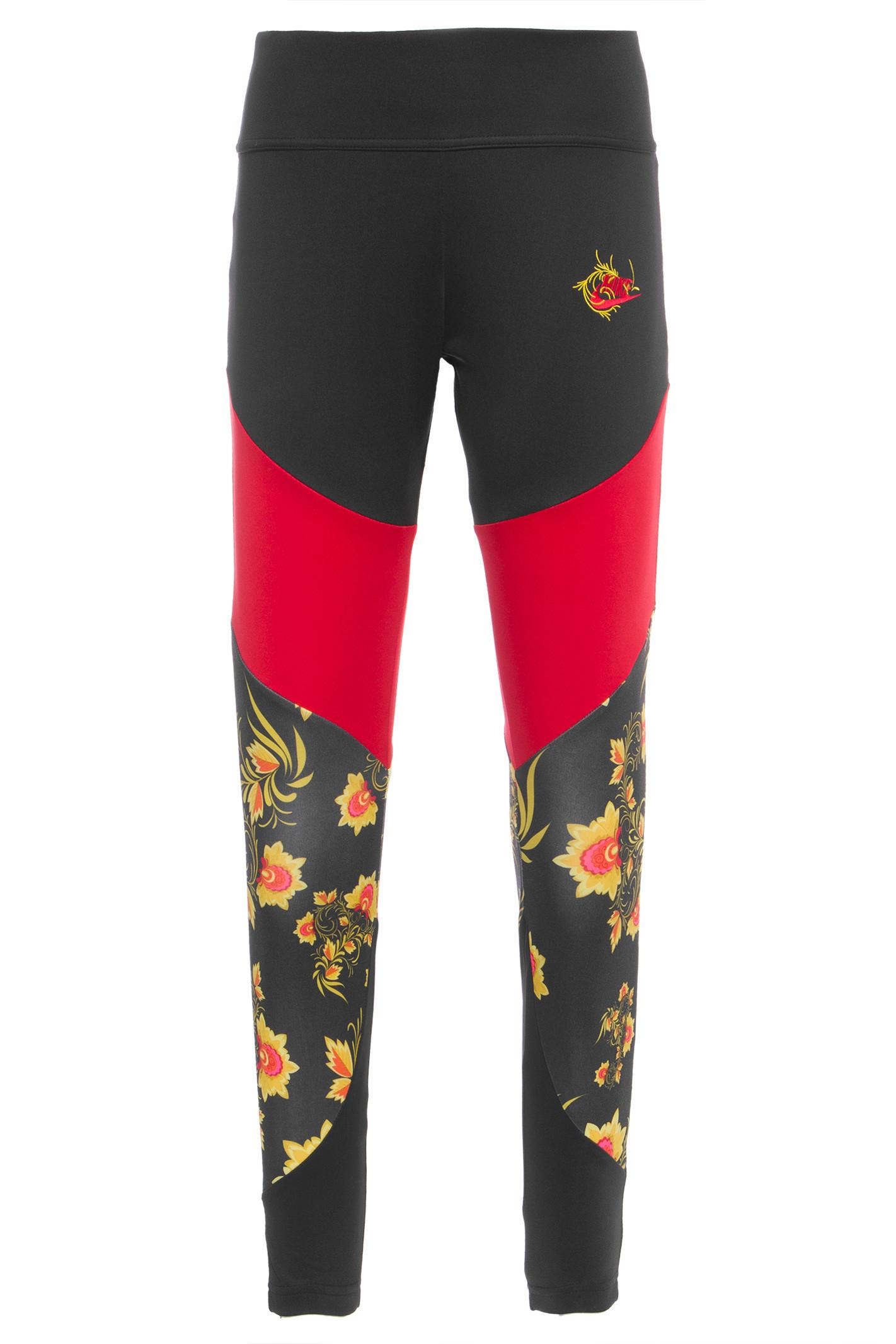 Calça Essential Legging Floral - Preto
