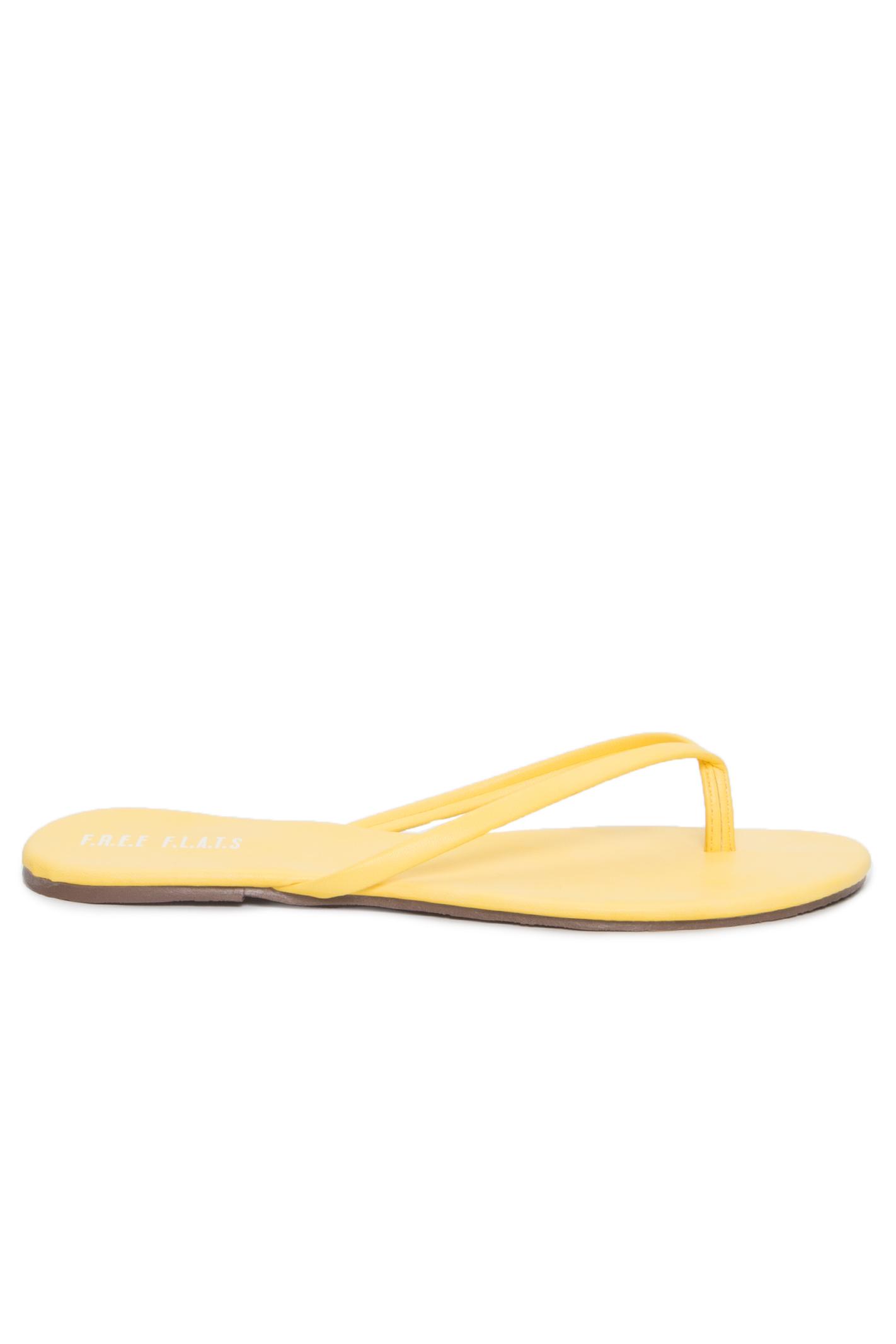 Rasteira Fresh Summer Amarelo