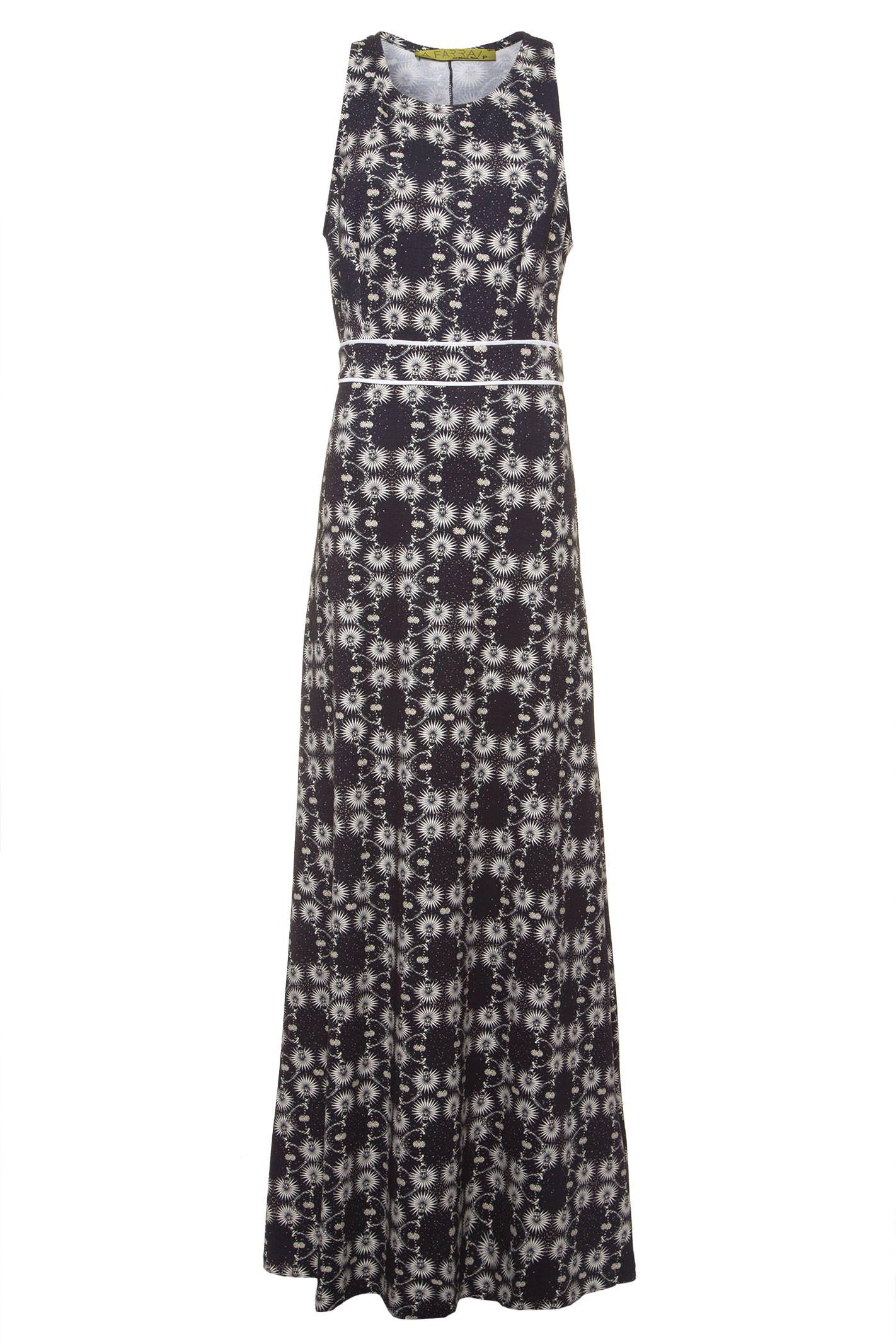 Vestido Longo Floral - Preto