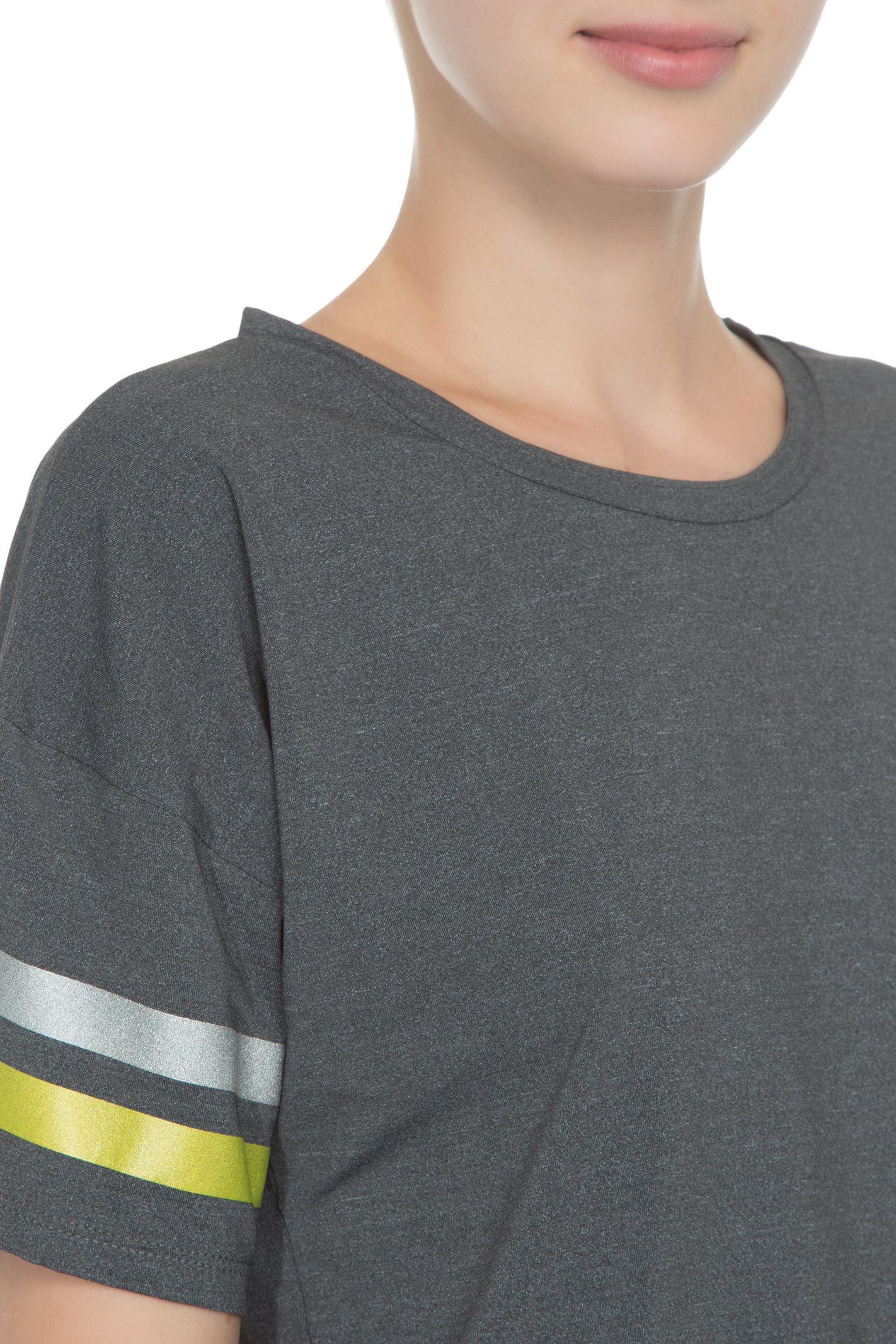 Camiseta Manga Curta Estampa Metalizada - Cinza