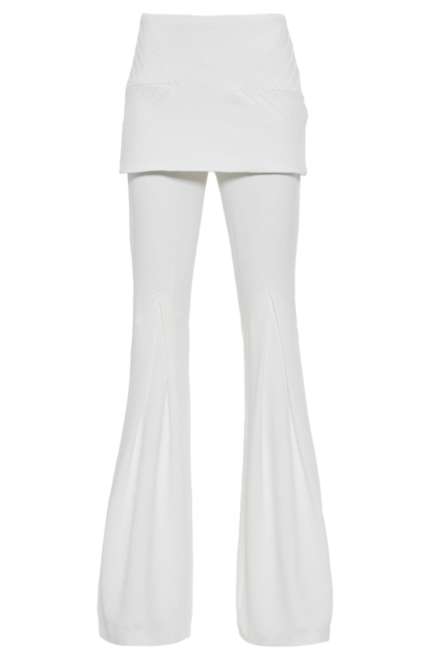Calça Flare Prega - Branco