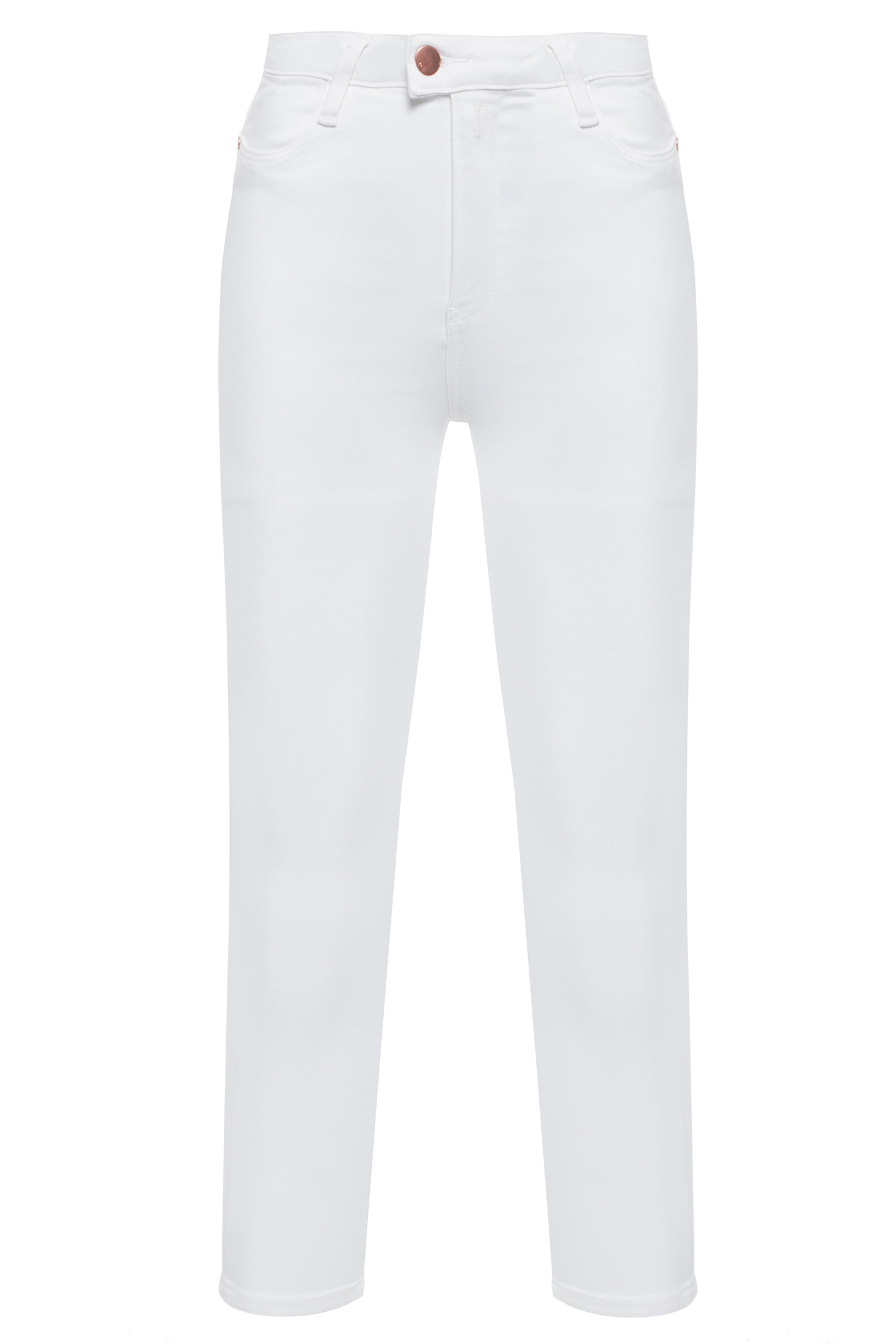 Calça Jeans Highwaist Cropped Touch - Off White