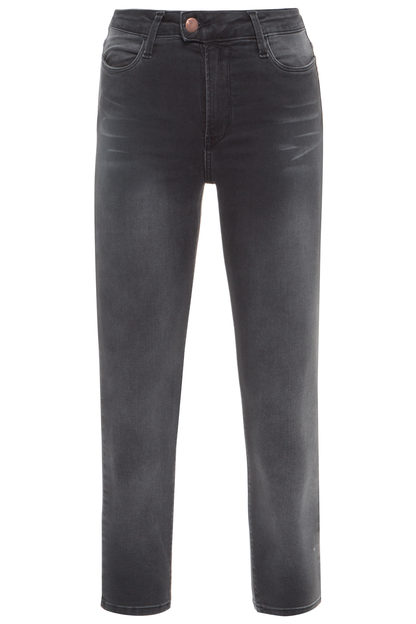 Calça Jeans Highwaist Cropped - Cinza
